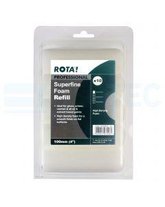 """High Density Foam Mini Roller Refill 4"""" Pack of 10"""