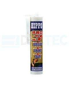 Hippo Pro 3 High Tack Adhesive Sealant Grey