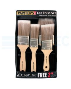 Painters Pack 6 Piece Synthetic Brush Set