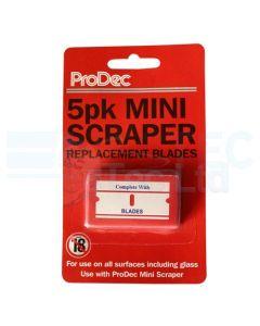 ProDec Mini Scraper Blades Window Scraper Blades (5 Pack)