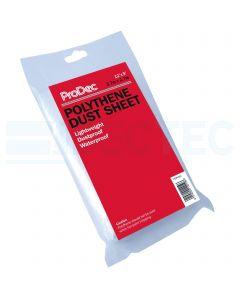 ProDec Plastic Dust Sheet 12ft x 9ft