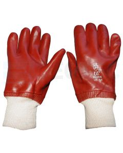 flexible Red PVC Coated Gloves (Red Riggers)