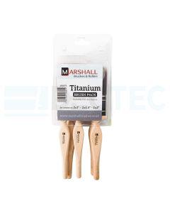 Titanium Synthetic Paint Brush Pack 5 Piece